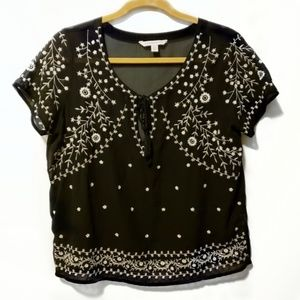 American Eagle Outfitters Size Med Black Top
